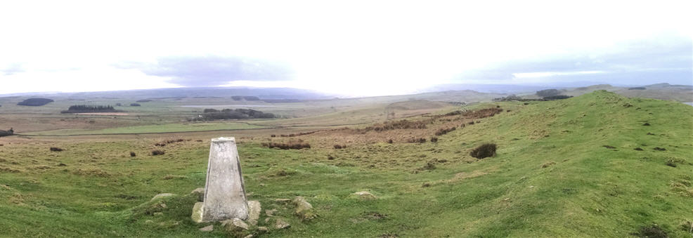 Panorama of Hadrians wall